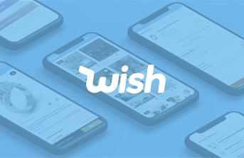 Interface of Wish shopping platform